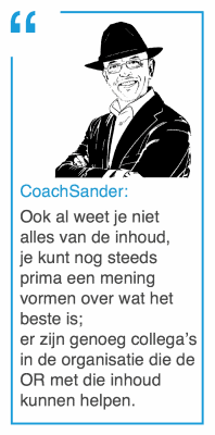 CoachSander quote - Ook al weet je niet alles van de inhoud - CT2.nl