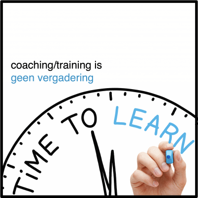 coaching training is geen vergadering - CT2.nl