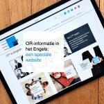 OR-informatie in het Engels: een speciale website