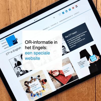 OR-informatie in het Engels een speciale website - CT2.nl