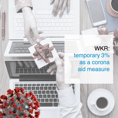 WKR temporary 3% as a corona aid measure - CT2