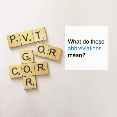 PVT, OR, OC, COR and GOR what do these abbreviations mean - CT2.nl