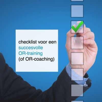 Checklist voor een succesvolle OR-training of OR-coaching - CT2.nl