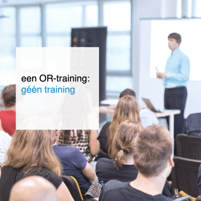 OR-training is geen training - CT2.nl